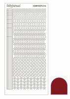 Stickervel Hobbydots Mirror STDM164 Red