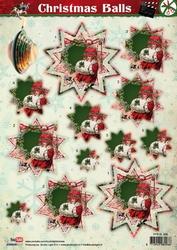 A4 Stansvel Studio Light SL438 Christmas Balls meisje