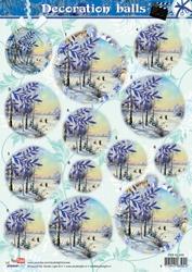 A4 Stansvel Studio Light SL449 Decoration Balls Winters Land