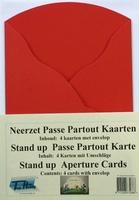 4 Neerzet Passe Partout kaarten Rood