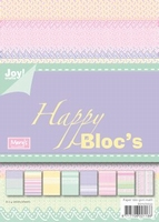 Joy! A5 Paperbloc 6011-0032 Happy bloc rose/paars