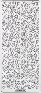 Stickervel Peel-off 0092 Bloemen - Blossum Sparklers