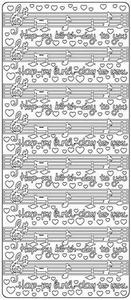 Stickervel Peel-off 2940 Happy Birtday - Muziek noten