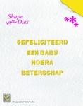 Nellie's Shape Die SD026 Tekst Nederlands gefeliciteerd ea