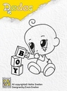 Nellie's Dada clear stamps DADA002 Boy Toys