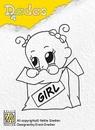 Nellie's Dada clear stamps DADA008 Girl Peekaboo