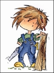 MD clear stamps Don & Daisy DDS3327 Handyman Don