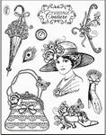 Clearstamp Viva My Paperwolrd 6940 Vintage Couture