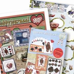 Hobbyjournaal 107 + knipvel Marieke bloem & CDD10011 kaarten