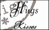 MD clear stamps CS0888 teksten Hugs-kisses Eng