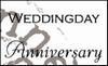 MD clear stamps CS0886 teksten Weddingday-anniversary Eng