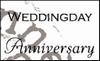 MD clear stamps CS0886 teksten Weddingday-anniversary Eng