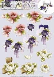 3D Knipvel Precious Marieke CD10335 Bloemen