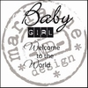 MD clear stamps CS0890 baby girl UK
