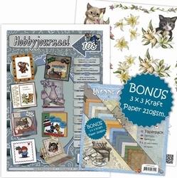 Hobbyjournaal 108 + knipvel Amy katjes & Paper CDPP10006