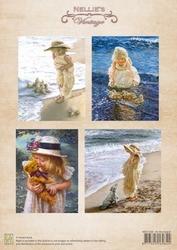 A4 Vel Nellie's Vintage Nevi038 Color At the beach