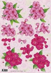 3D Knipvel Anne Design VBK 2541 Bloemen roze