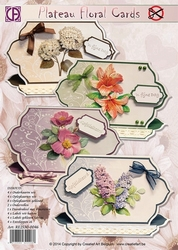 Creatief Art RE2530-0046 Reddy Plateau Floral Cards