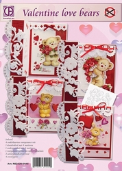 Creatief art A4 pakket RE2530-0045 Valentine Love Bears