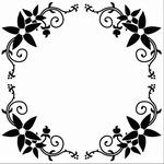 Nellie's Embossing folder EFE010 Flower frame, ROUND