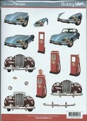 A4 Knipvel Hobbyidee hi00080 Heren auto/benzine pomp