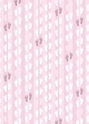 A4 Basisvel Hobbyidee hi-3075 Baby voetjes roze