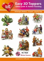 Hearty Crafts Easy 3D Toppers HC7829 Winter taferelen