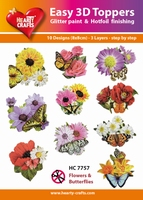 Hearty Crafts Easy 3D Toppers  HC7757 Bloemen