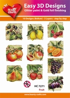 Hearty Crafts Easy 3D Toppers  HC7271 Fruit/beterschap