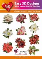 Hearty Crafts Easy 3D Toppers  HC7263 Winter Bloemen