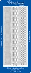 Sticker 50 Starform 1016 Diverse randen golf/recht ea