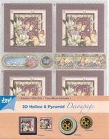 Joy! 3D Hollow & Pyramid Decoupage 6013-1702 bloemen 2