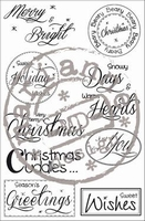 MD Clear StampFairy SF1118 Christmas sentiments