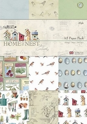A5 Paper pack Papermania PMA 160146 Home to Nest