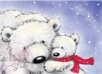 Wild Roses Studio Stamp CL270 Polar Bears