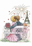 Wild Roses Studio Stamp CL364 Fireworks in Paris