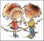 MD clear stamps Don & Daisy DDS3341 Cheers