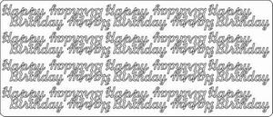 Stickervel 1602 Happy birthday
