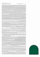 Sticker Hobbydots Adhesive LC2 Letters en Cijfers Green
