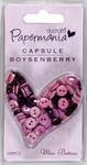 Papermania Mini buttons PMA 3541105 Boysenberry