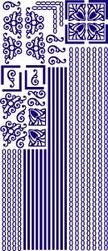 Stickervel Voorbeeldkaarten 111 Div. Randen&Hoeken