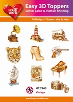 Hearty Crafts Easy 3D Toppers HC7963 Vintage