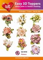 Hearty Crafts Easy 3D Toppers HC7979 Bloemen diverse