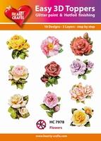 Hearty Crafts Easy 3D Toppers HC7978 Bloemen rozen ea