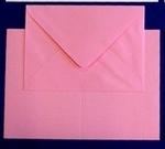 Lesuh 5 Kaarten met enveloppe Hamerslag 603 roze