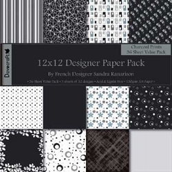 Scrapbooking Papier pack Dovercraft Charcoal Prints