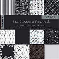Scrapbooking Papier pack Dovercraft Charcoal Prints