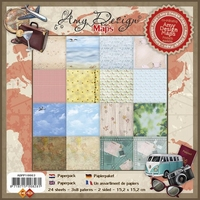 Amy Design Paperpack ADPP10003 Maps