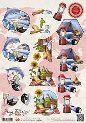 3D Knipvel Amy Design CD10364 Maps Vakantie
