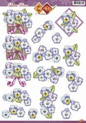 3D Knipvel Artists Laura Broos CD10362 Bloemen/violen